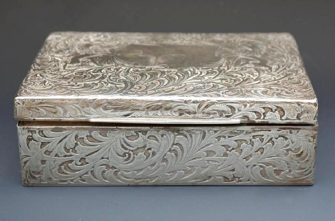 Sterling Silver Velvet Lined Jewelry Box, Black Starr - 2
