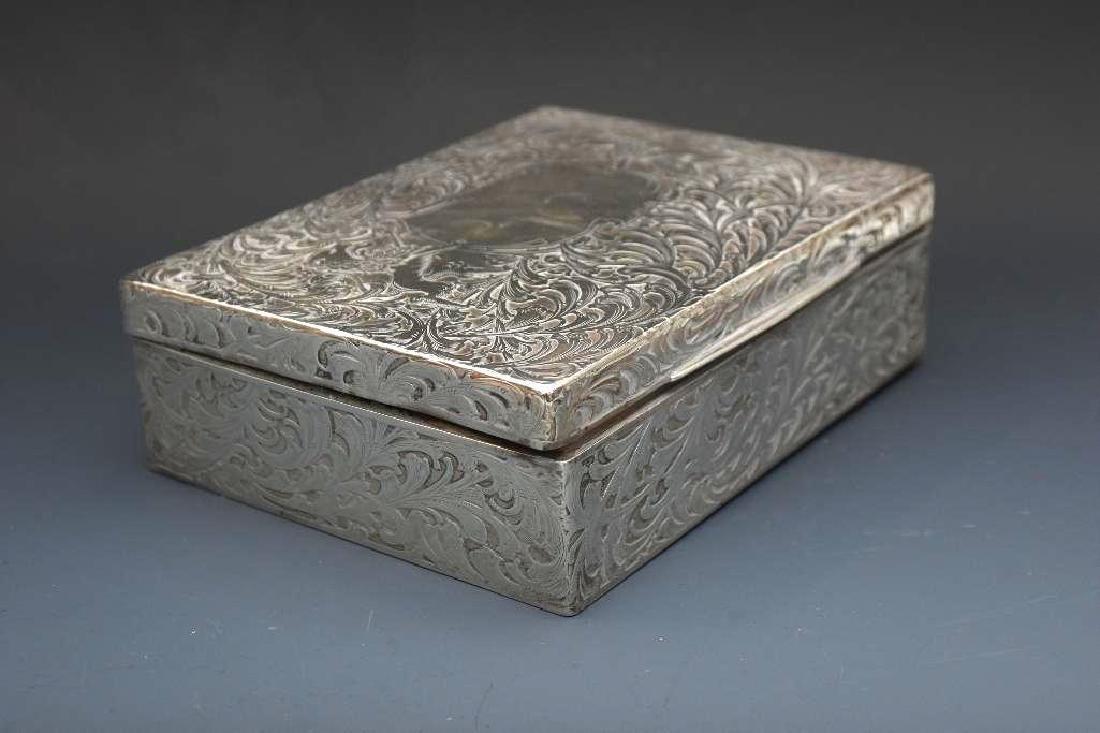 Sterling Silver Velvet Lined Jewelry Box, Black Starr - 3