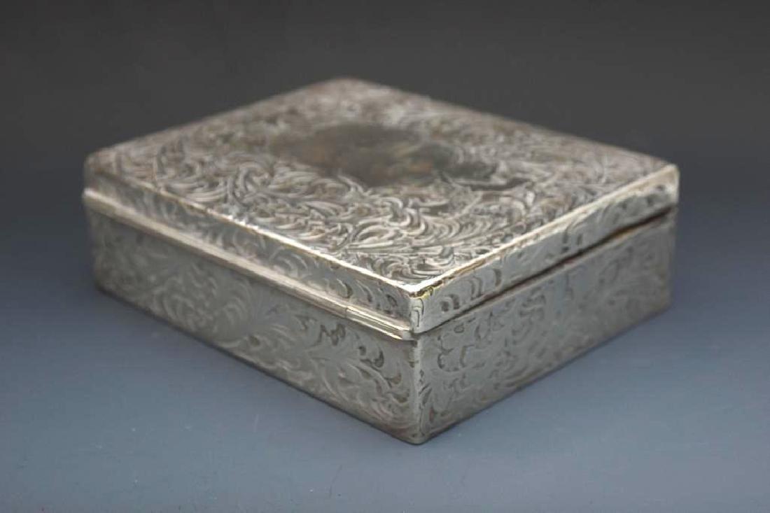 Sterling Silver Velvet Lined Jewelry Box, Black Starr - 4