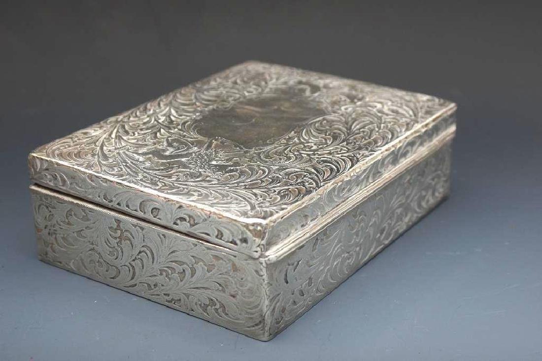Sterling Silver Velvet Lined Jewelry Box, Black Starr - 5