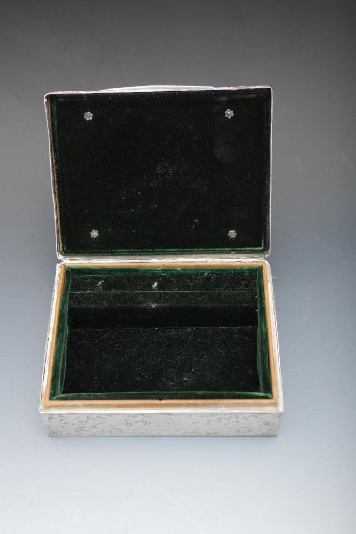 Sterling Silver Velvet Lined Jewelry Box, Black Starr - 6