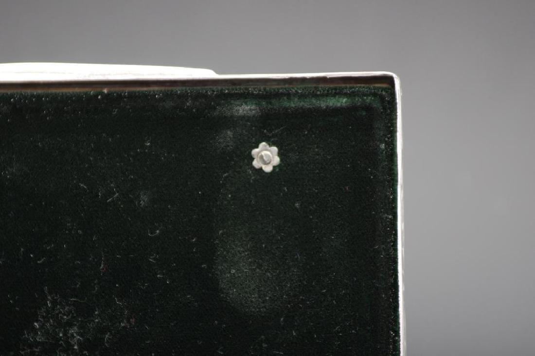 Sterling Silver Velvet Lined Jewelry Box, Black Starr - 7
