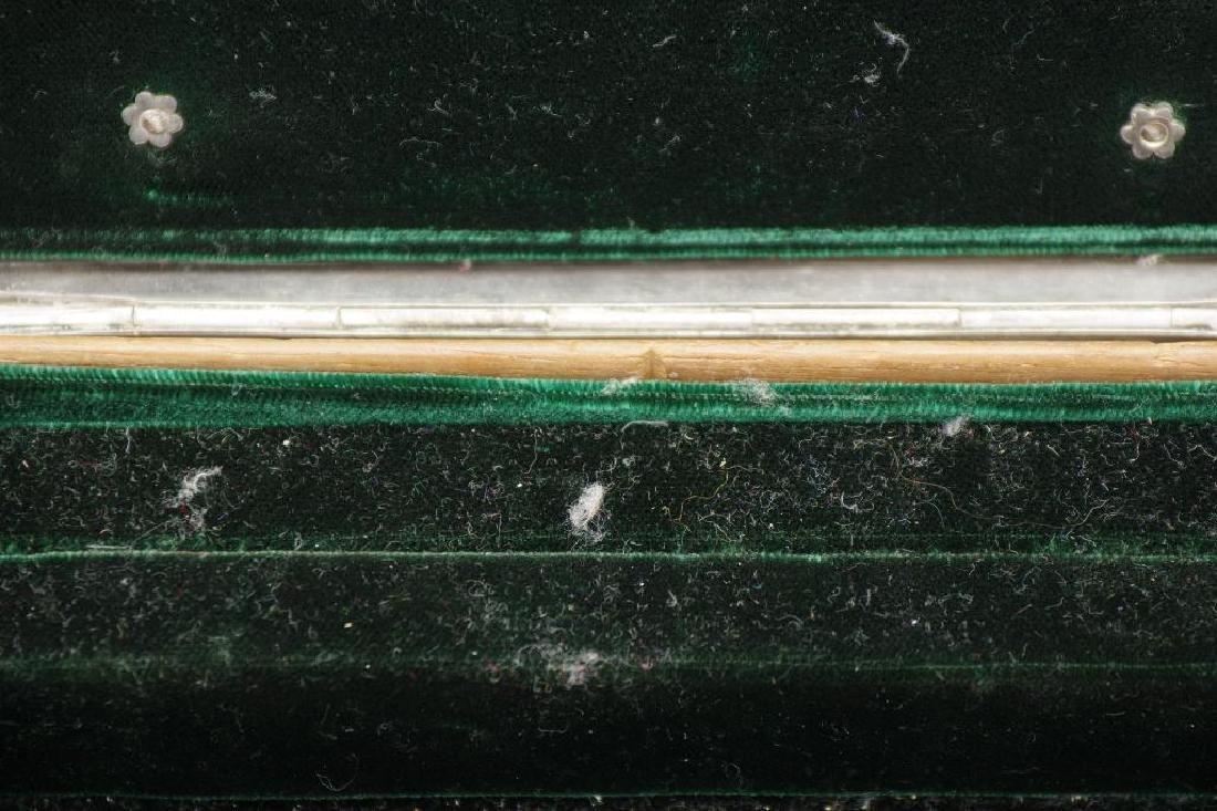 Sterling Silver Velvet Lined Jewelry Box, Black Starr - 8