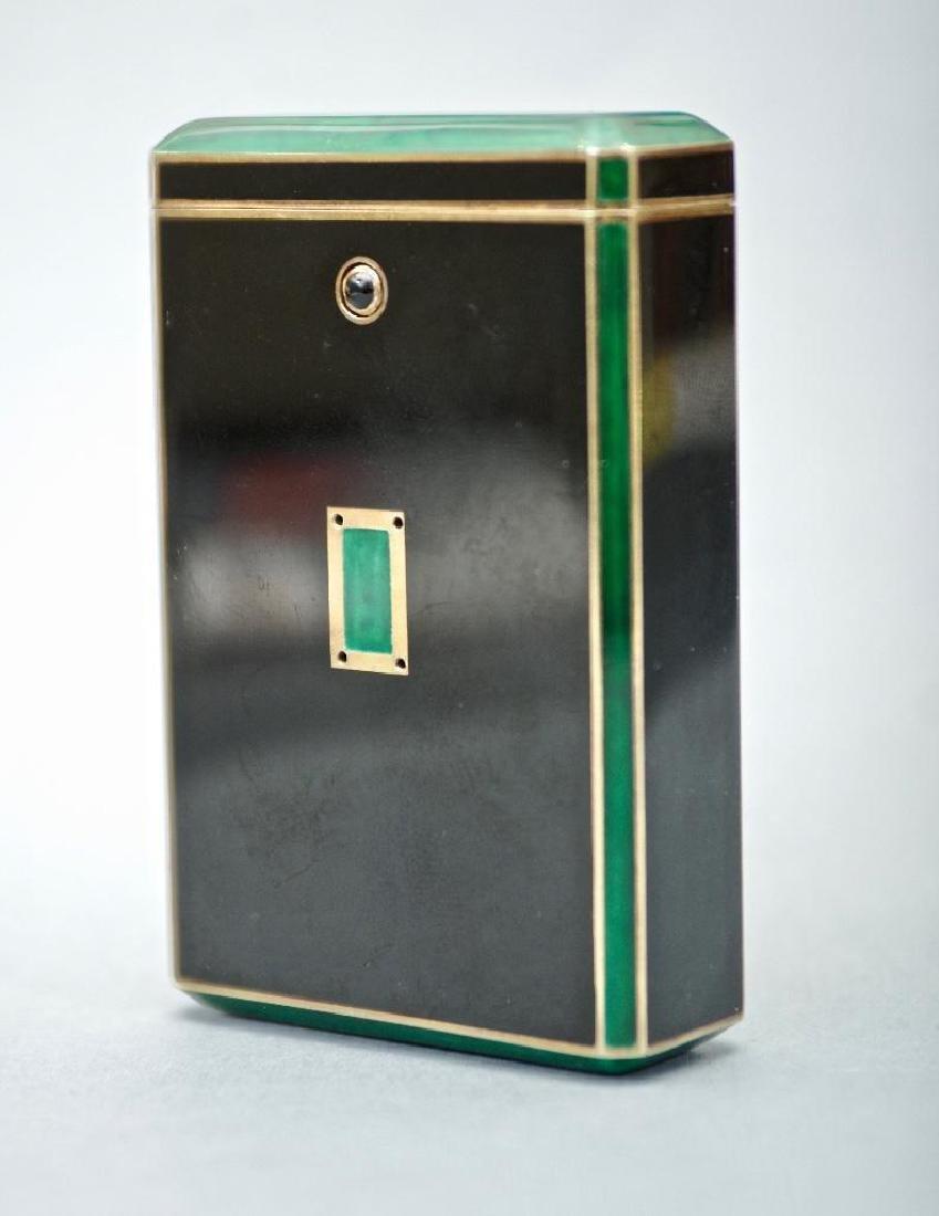Cartier Art Deco Gold & Enamel Cigarette Case, 1924