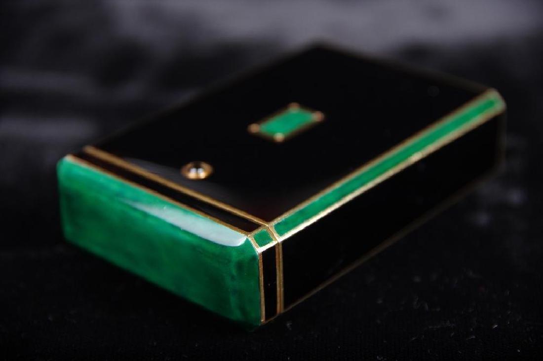 Cartier Art Deco Gold & Enamel Cigarette Case, 1924 - 6