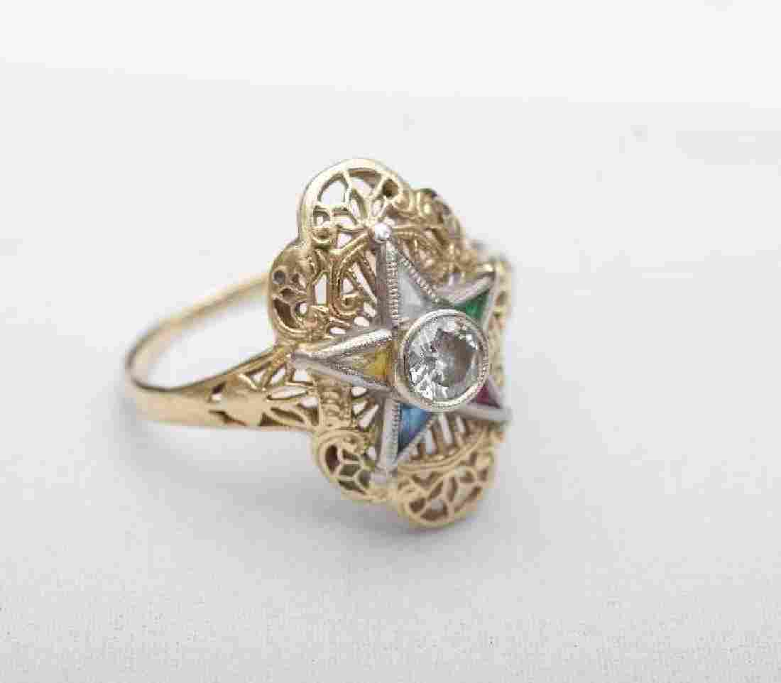 Ladies 14K Yellow Gold Diamond, Sapphire Emerald and