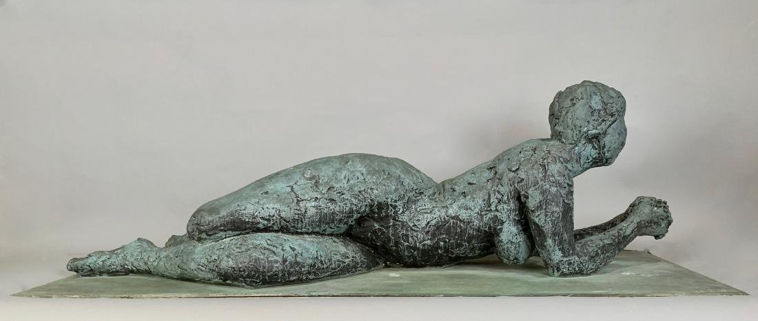 Anthony Caro Bronze Reclining Woman