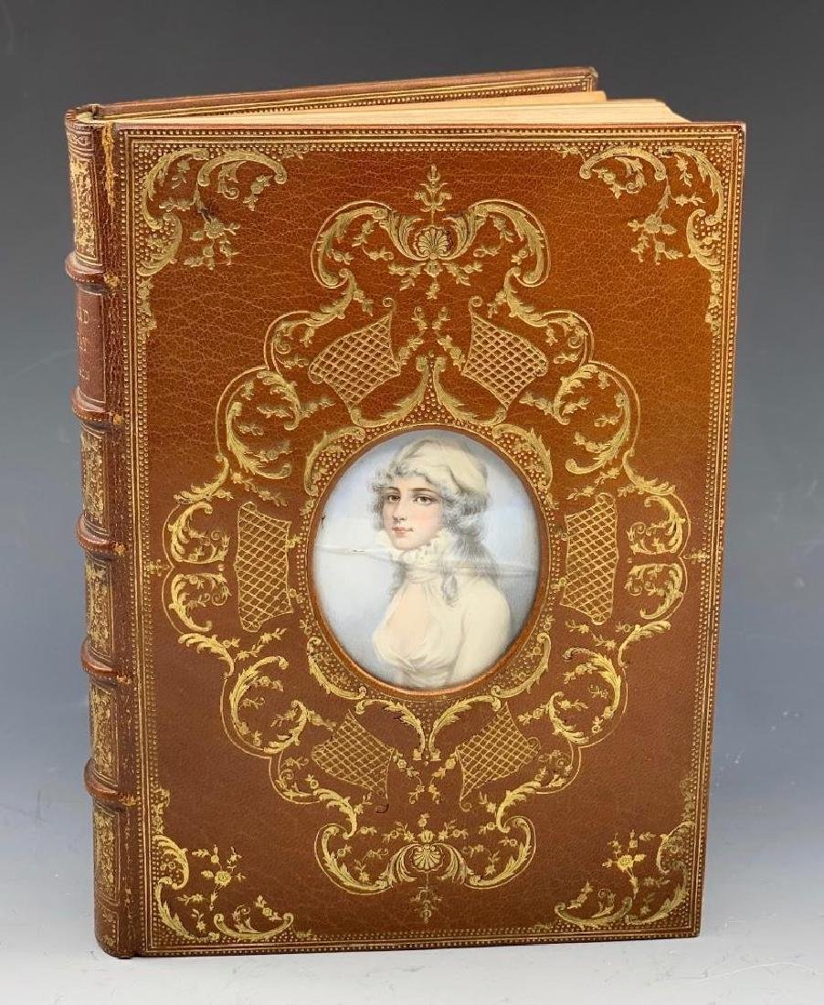 Cosway Miniature Portrait Cosway-style binding by