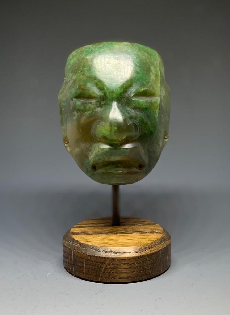 Olmec Carved Jade Head