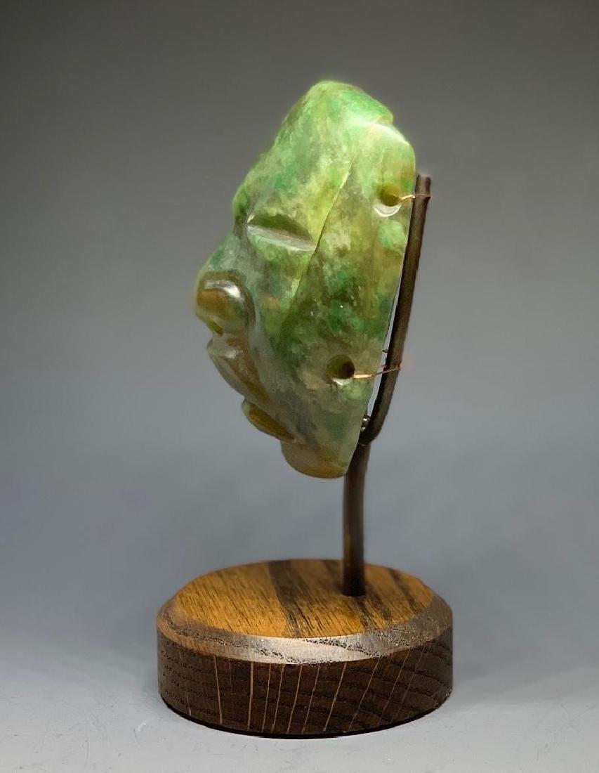 Olmec Carved Jade Head - 2