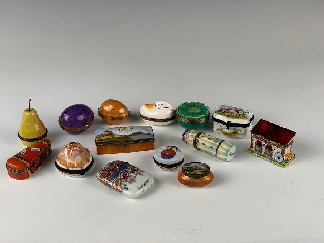 Lot of Mostly Limoges Snuffboxes