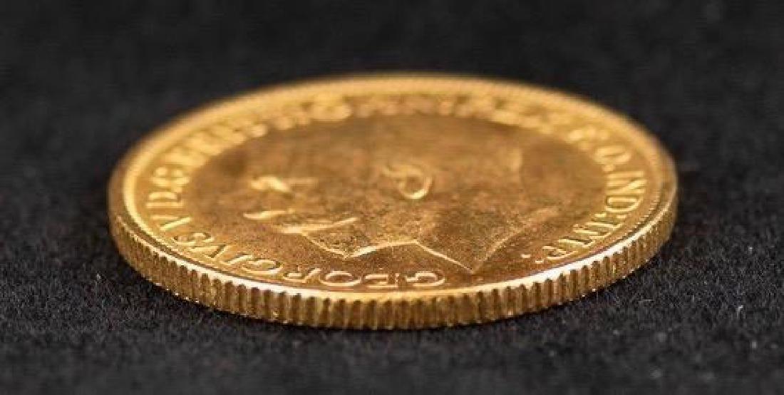 1915 George V Sovereign 22K Gold Coin - 3