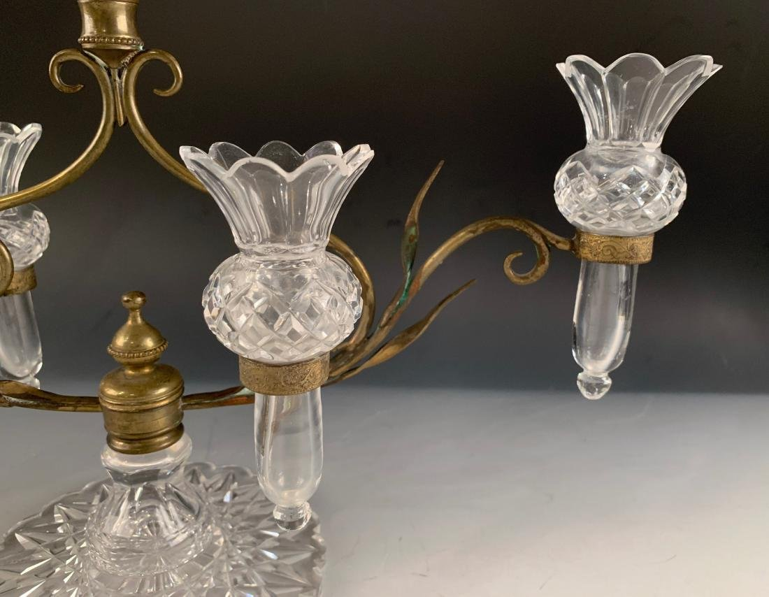 Victorian Cut Glass and Brass Epergne - 7