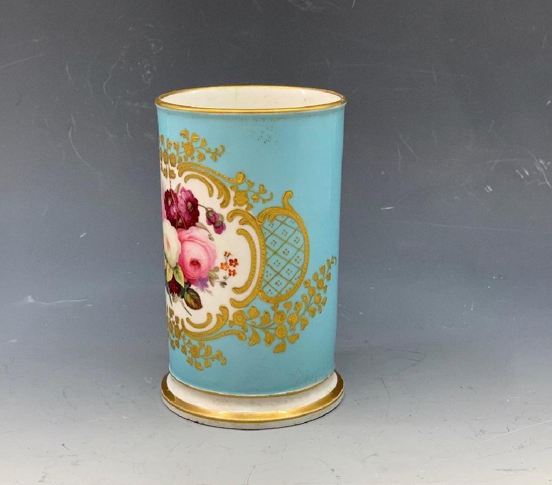 Coalport or Spode Hand Painted Spill Vase, 19thc.