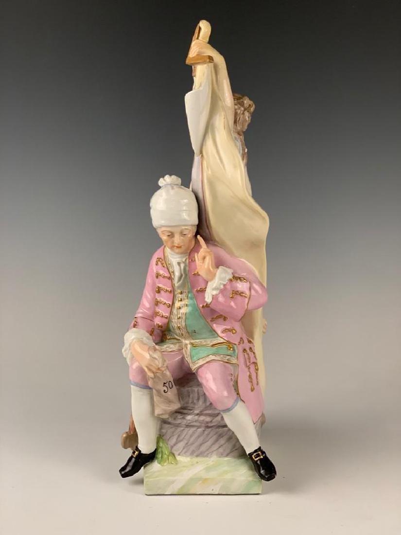 German Porcelain Figural Group, 19thc.
