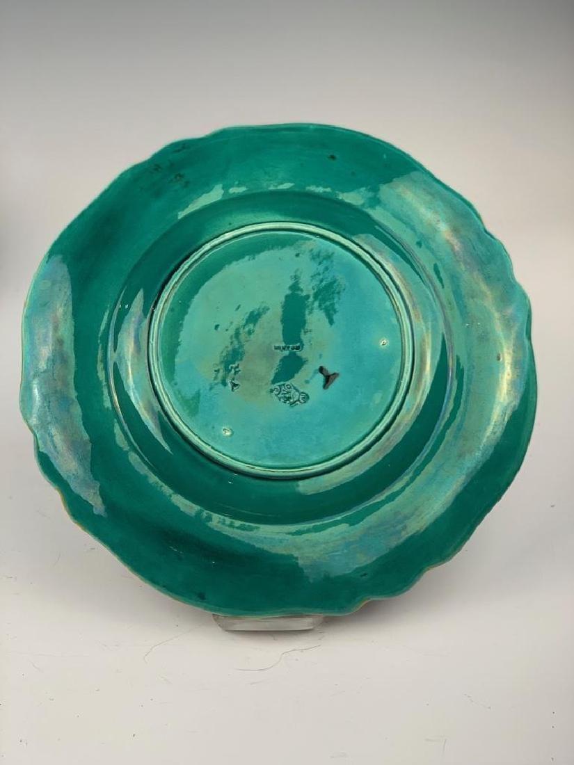 8 Minton Majolica Plates, Fish Design - 3