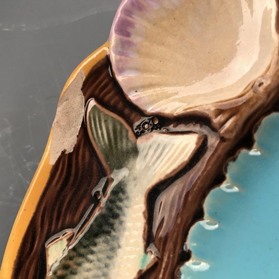 8 Minton Majolica Plates, Fish Design - 7
