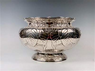 An Imperial Silver Bowl by By Hirata Shigemitsu VII