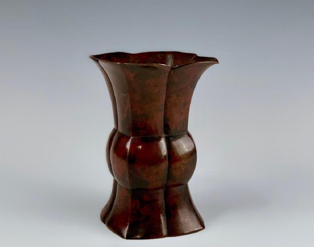 Japanese Bronze Vase - 3