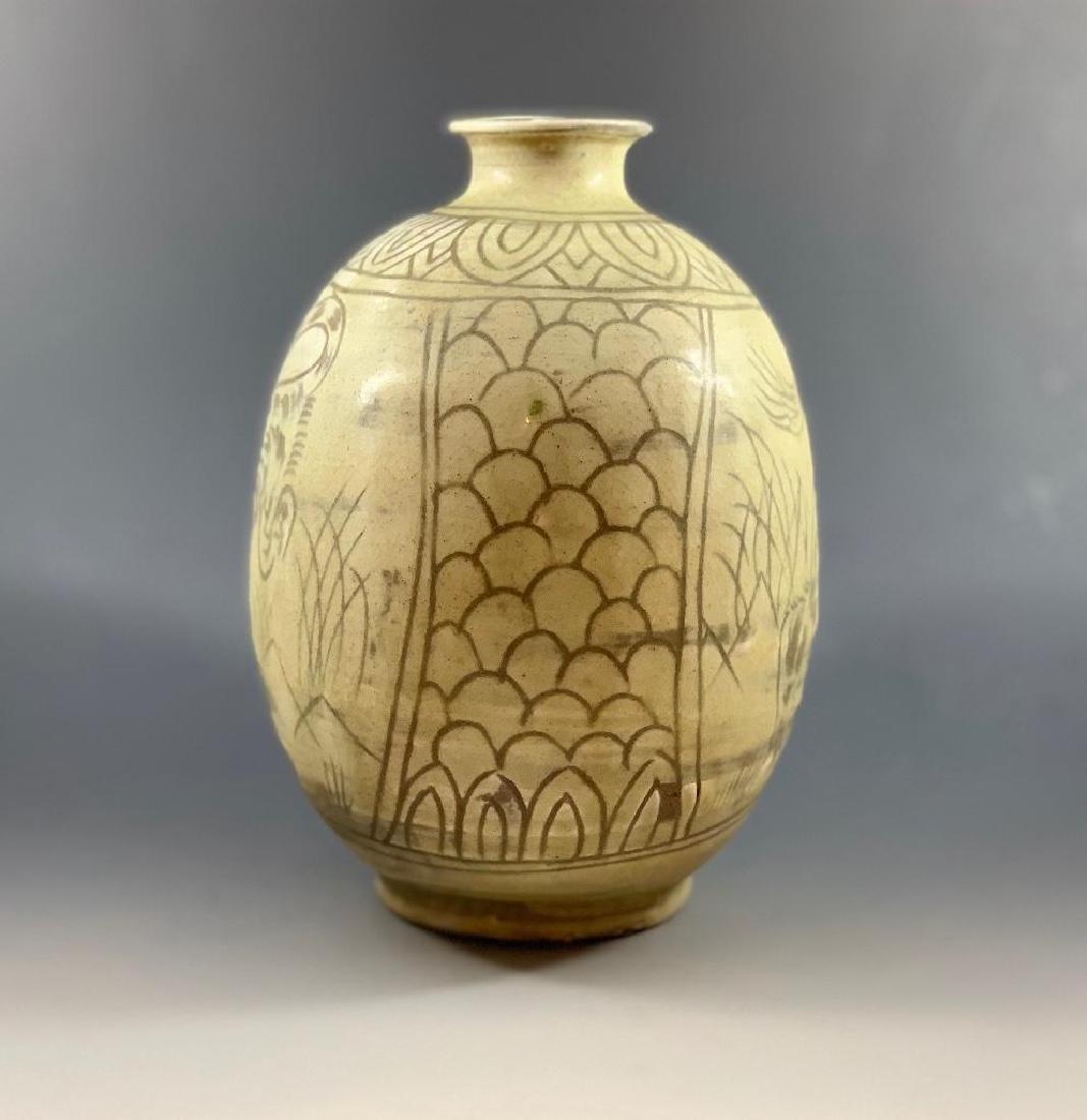 Korean Celadon Tiger Vase - 3