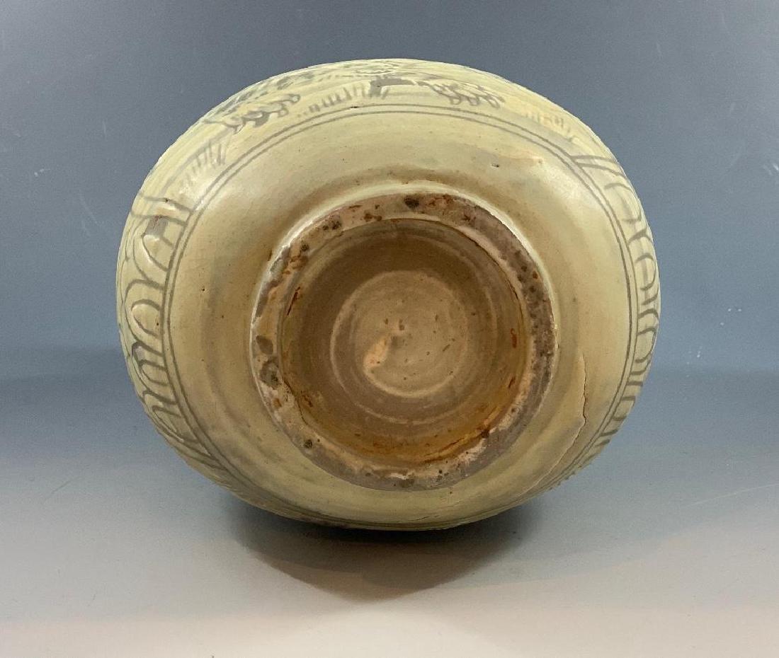 Korean Celadon Tiger Vase - 5