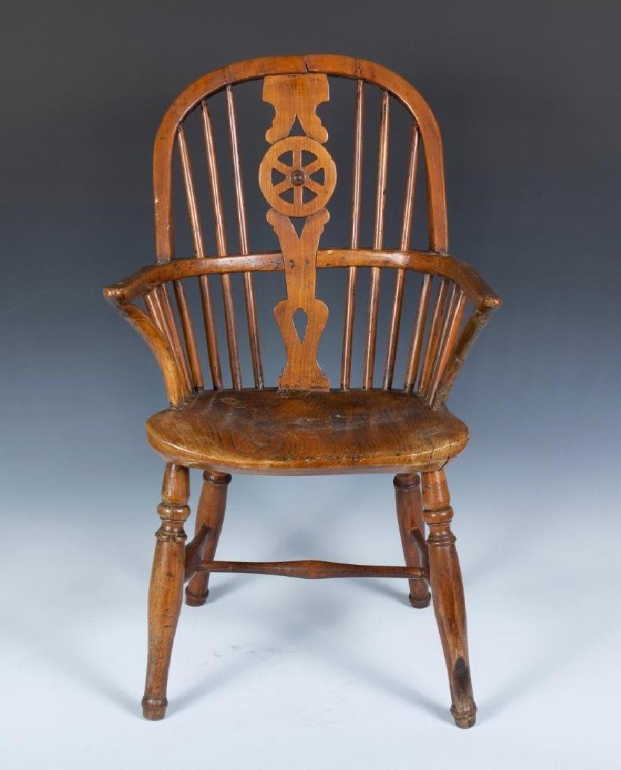 English Child's Windsor Arm Chair in Elm