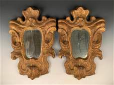 Pair of Italian Giltwood Mirrors, 19thc.