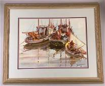 James Sessions Watercolor, Marine