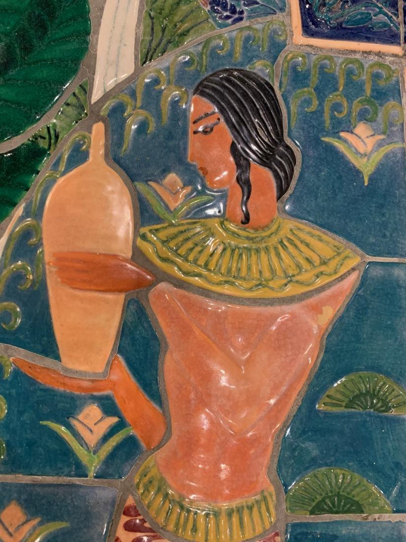 Cowan Pottery Glazed Ceramic Mural, Elsa Vick Shaw - 10
