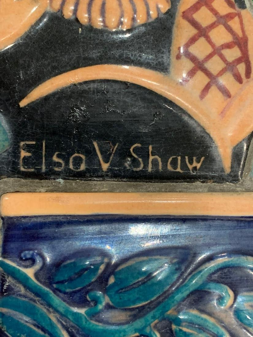 Cowan Pottery Glazed Ceramic Mural, Elsa Vick Shaw - 2