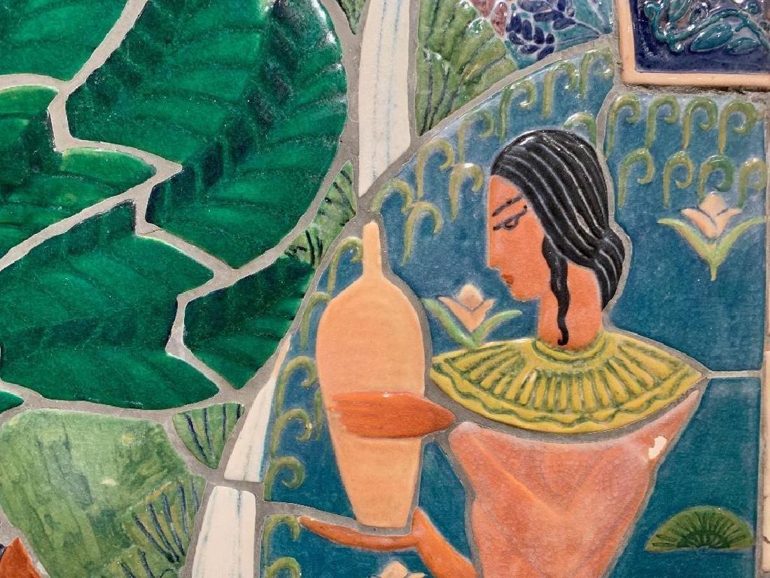 Cowan Pottery Glazed Ceramic Mural, Elsa Vick Shaw - 3