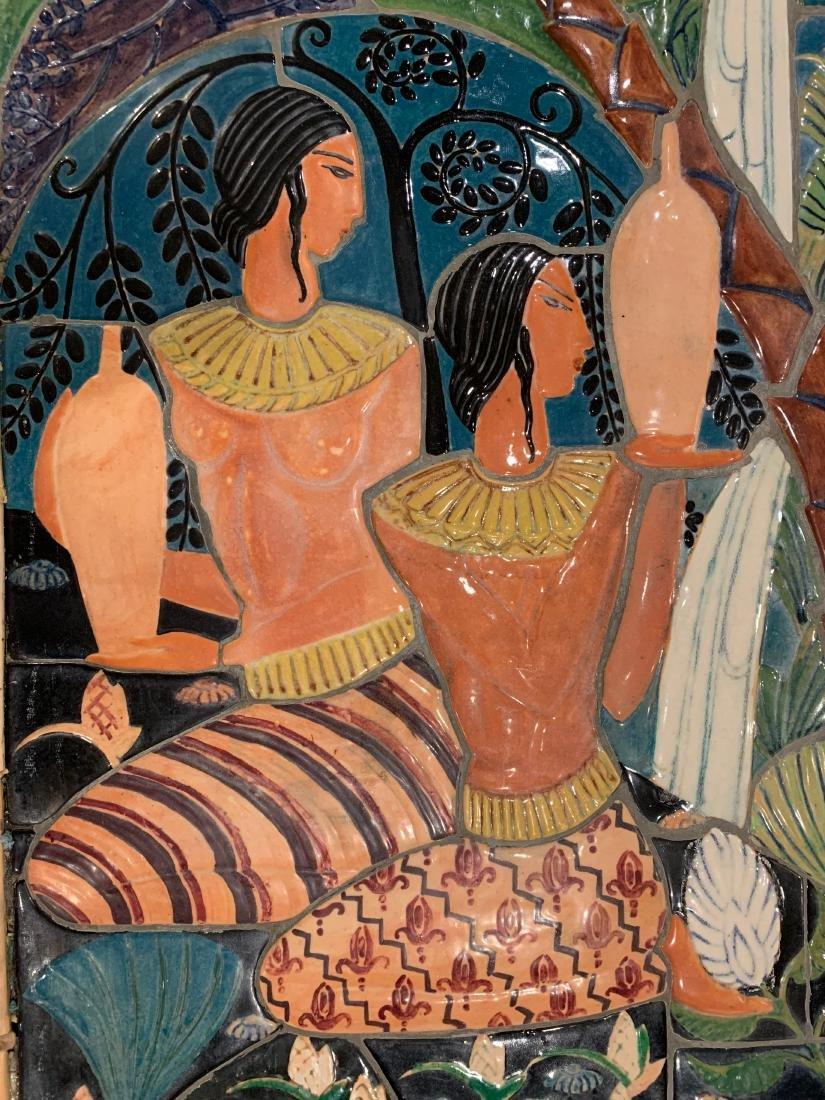 Cowan Pottery Glazed Ceramic Mural, Elsa Vick Shaw - 4