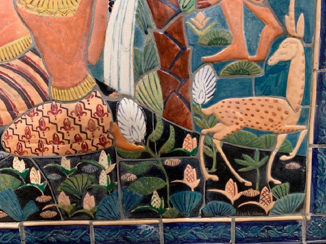 Cowan Pottery Glazed Ceramic Mural, Elsa Vick Shaw - 5