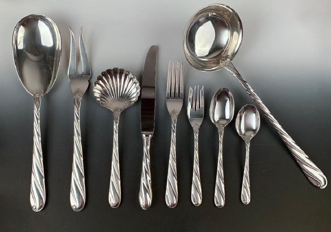 Buccellati Torchon Sterling Silver Flatware Service for