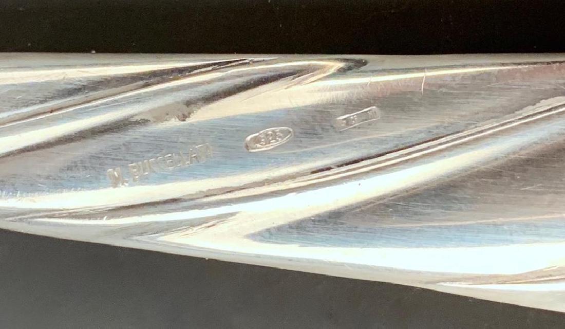 Buccellati Torchon Sterling Silver Flatware Service for - 9