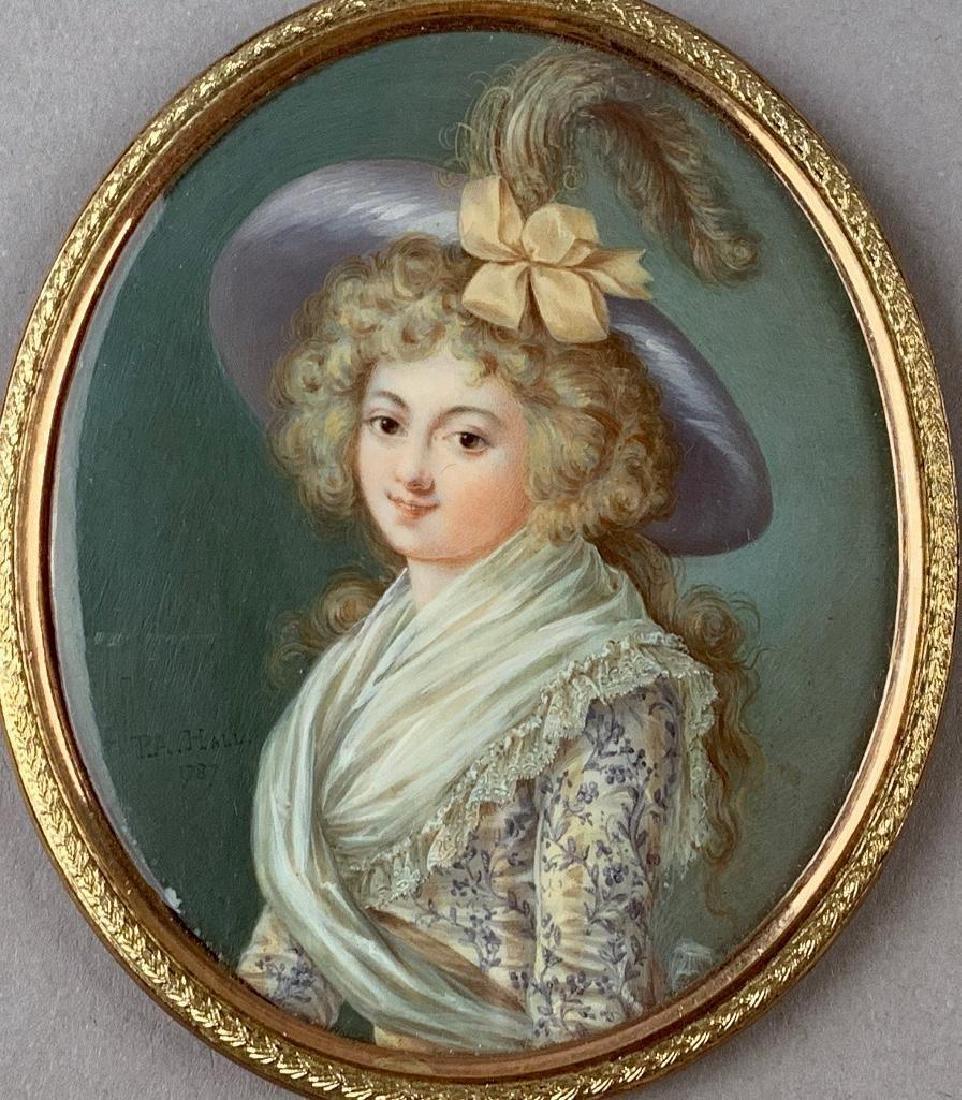 Fine Portrait miniature by Peter Pierre Adolph Hall - 2