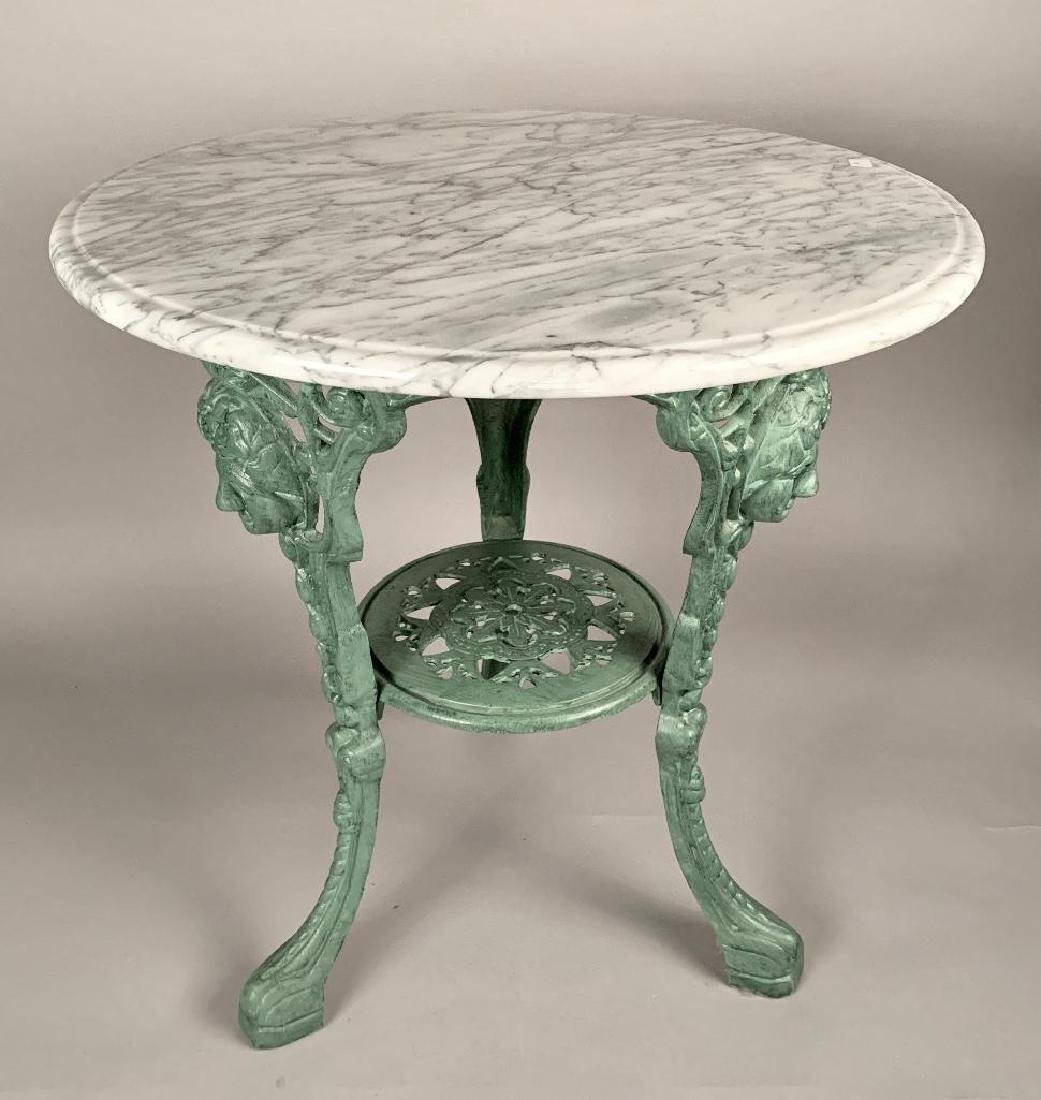 A Victorian Style Cast Iron Garden Table