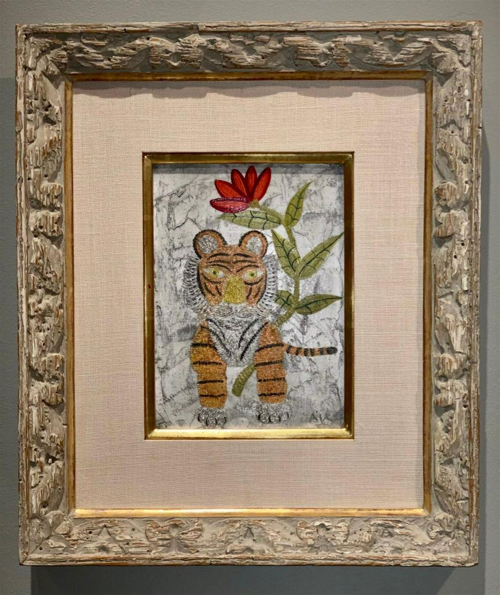 Henry Hecht Maik ( French 1922-1993) Tiger and Rose