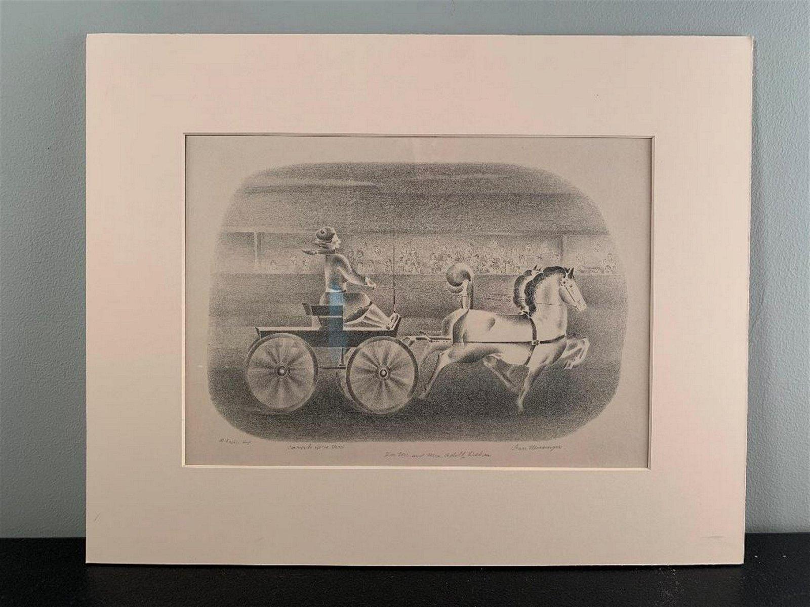 Ivan Messenger(American 1895-1983) Coronado Horse Show,