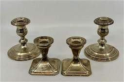 Two Pairs of Fisher Sterling Weighted Candlesticks