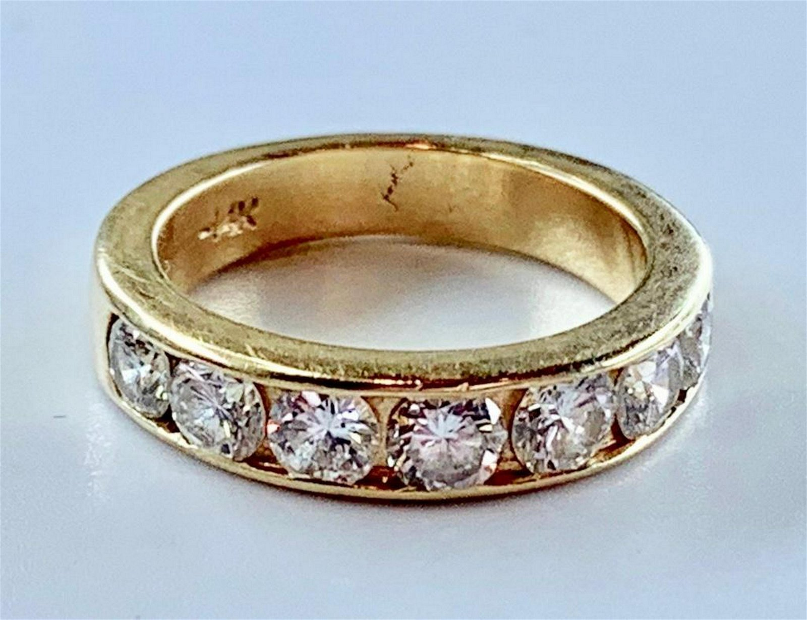 14K Gold and Diamond Channel Band