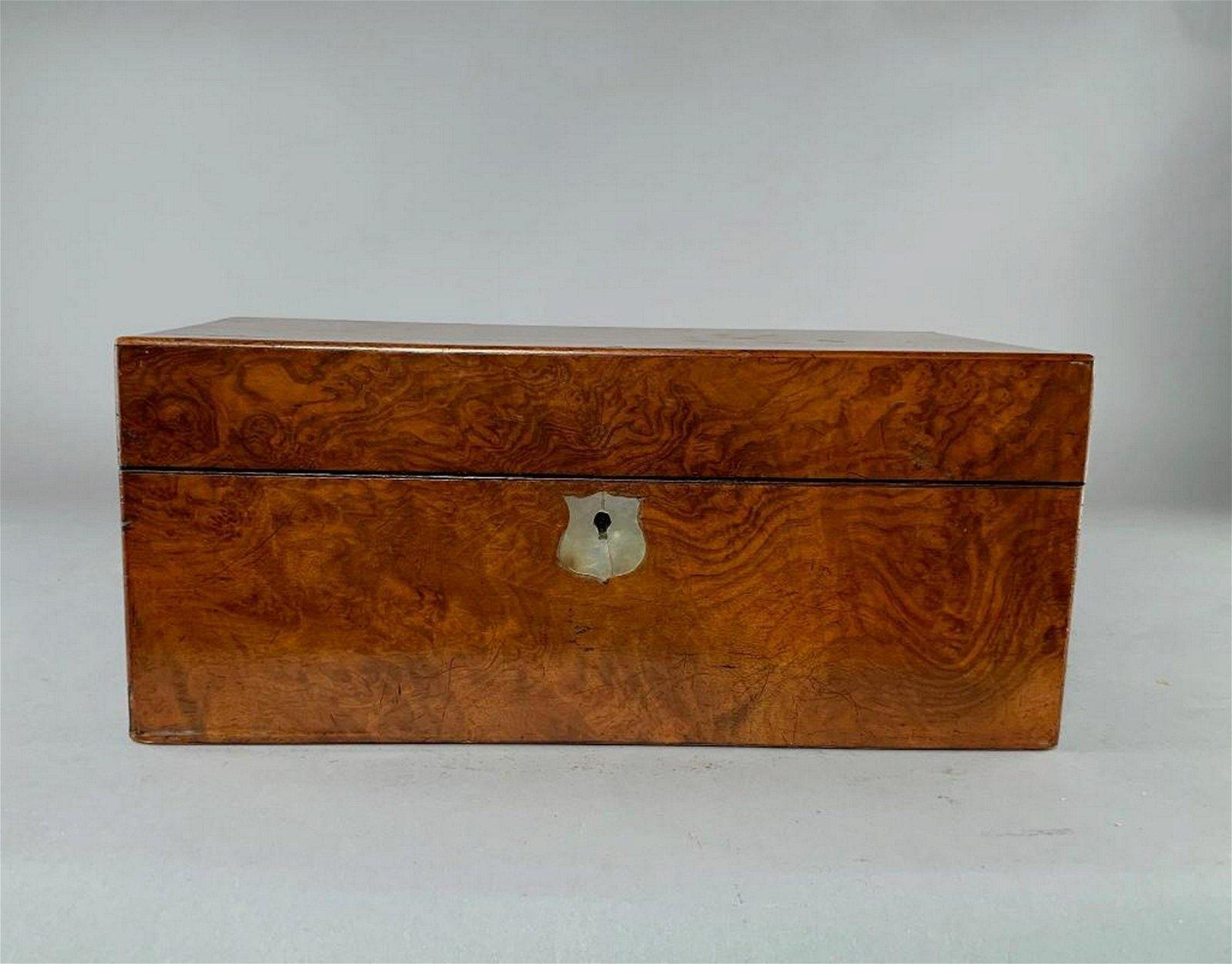 Burl Wood Tea Box