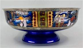 Miguel Pineda Mexican Sterling and Enameled Bowl