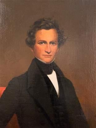 19thc. American or British School Portrait
