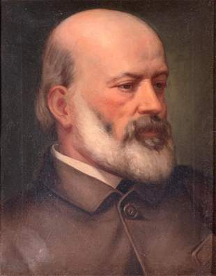 Late 19thc. American School Portrait
