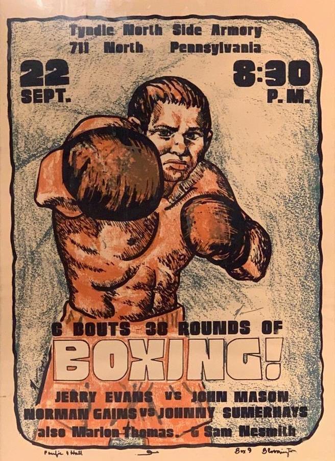 Framed Boxing Poster