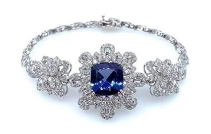 Ladies Tanzanite and Diamond Bracelet