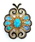 La Triomphe VictorianStyle Opal  Diamond Enamel