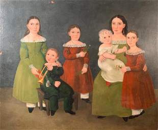 19thc. American School, Monumental Family