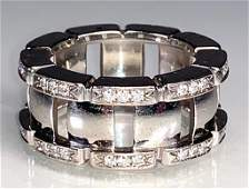 Ladies 18K White Gold and Diamond Ring, Patek Philippe
